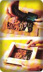 Мозаика из камня и гальки. Часть 2.  Заливка рисунка закрепляющим составом.