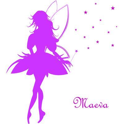 Elle va adorer son stickers personnalisé avec petite fée a coller sur le mur de sa chambre.