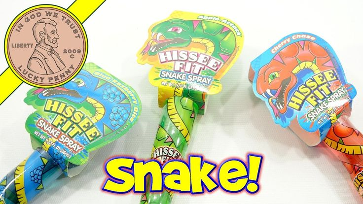 Hissee Fit Snake Spray Liquid Candy - Raspberry Bite, Cherry Chase & App...