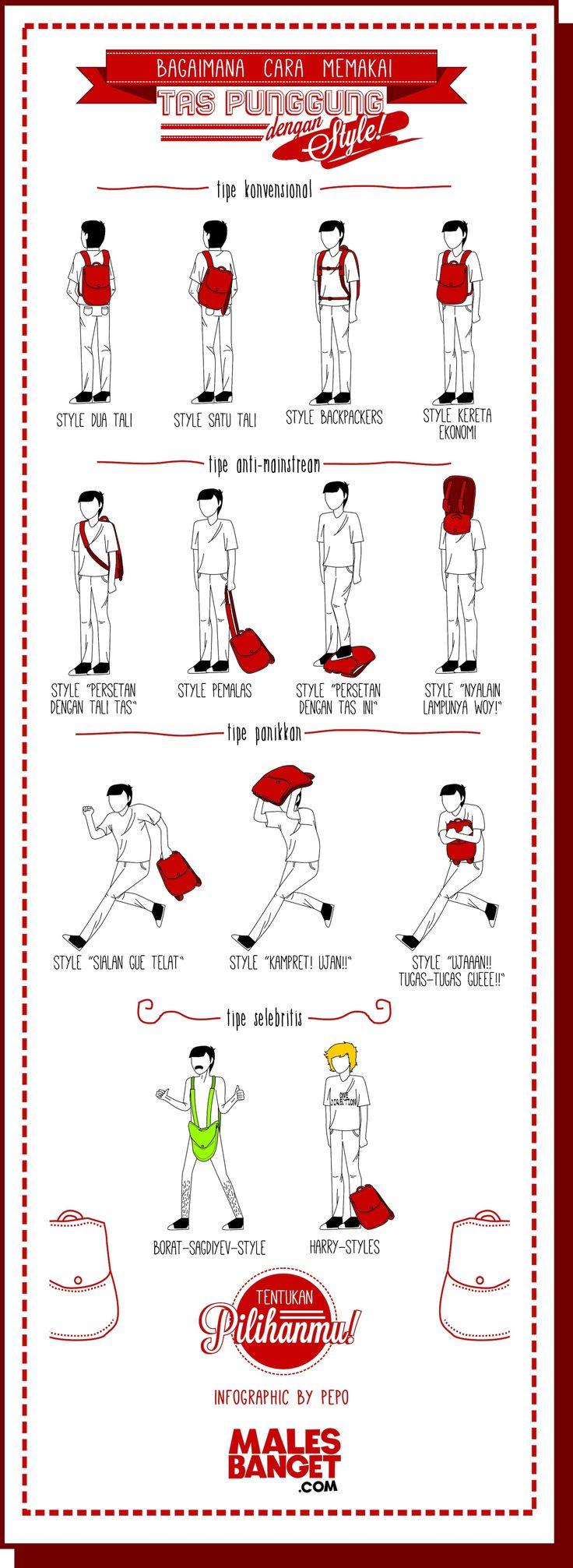 Cara Memakai Tas Punggung dengan Style!