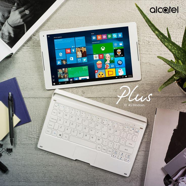 ¡3 maneras de usarla! La nueva Tablet #Plus10 de #ALCATEL presente en el #MWC16 la puedes usar tanto para atender tus necesidades de la oficina, como centro de entretenimiento y como compañera de viaje. ¡Es sencillamente perfecta!