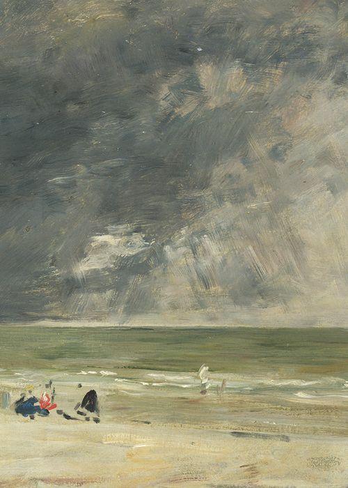 Eugène Boudin, Beach at Trouville (detail), ca. 1890