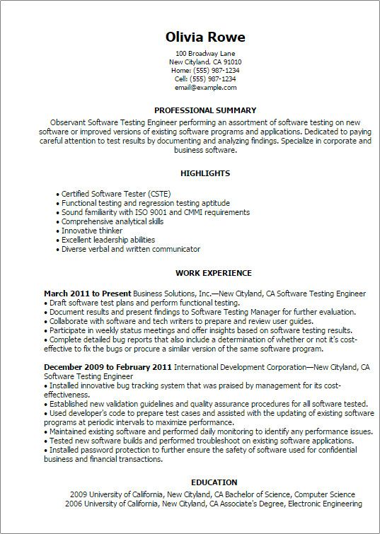software testing oberen qa tester resume no experience