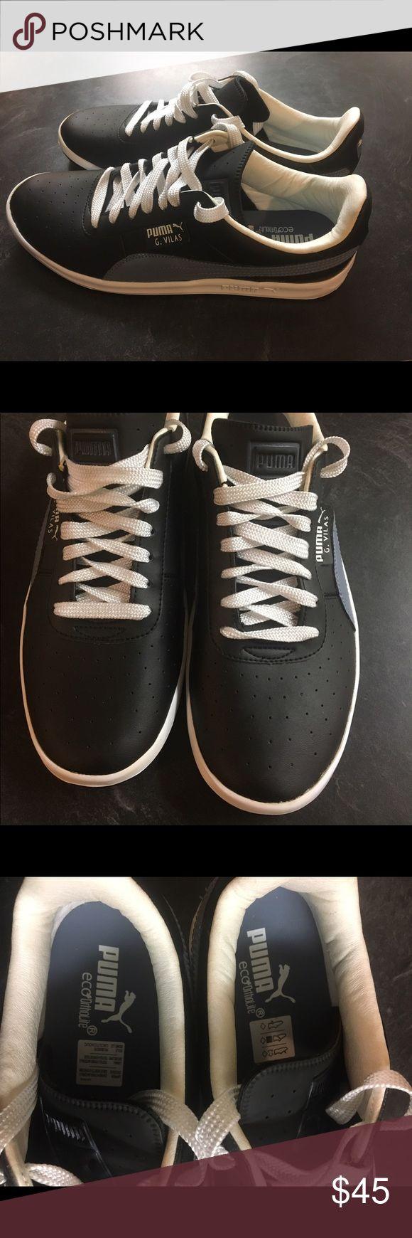 Puma G vilas Black flint Stone. Classic retro Beautiful classic Puma vilas. Pre-loved but very well kept. Puma Shoes Athletic Shoes