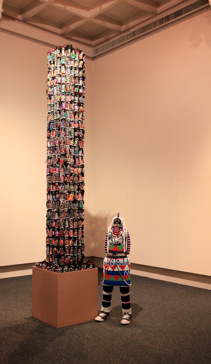 """The """"Orphan Tower """" - 634 beaded dolls from A.R.T. Show exhibit"""