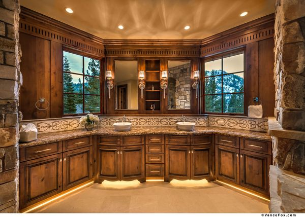 Squaw Mountain Residence Bath Vanity Tahoe California By Locati Architects Interior Design By