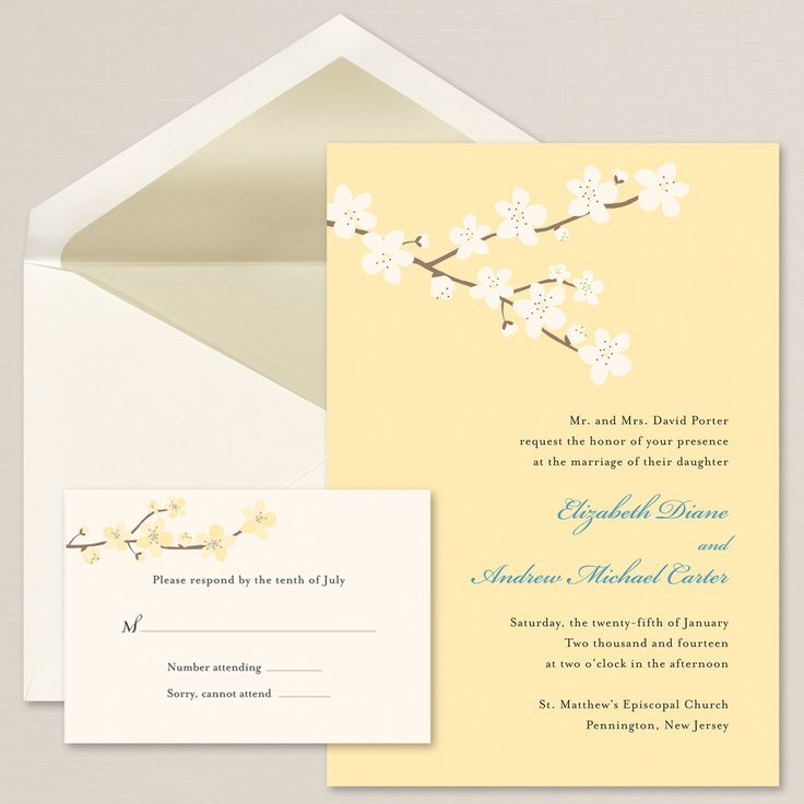 Budding Blossoms Wedding Invitation | Fresh blossoms and trellis design | #exclusivelyweddings