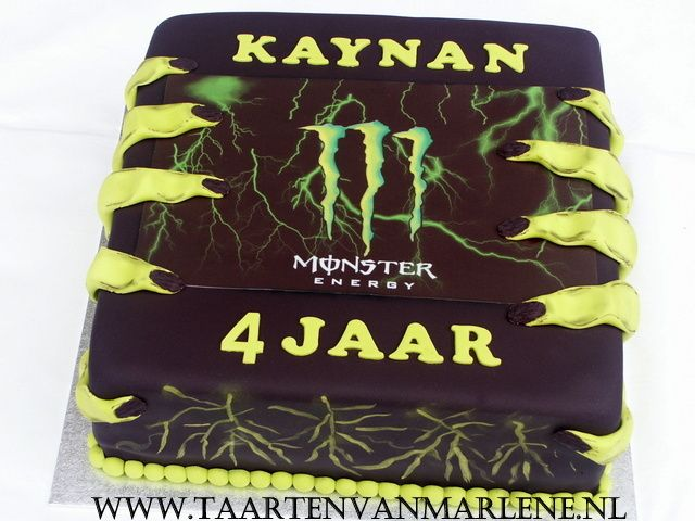 Monster Energy taart.