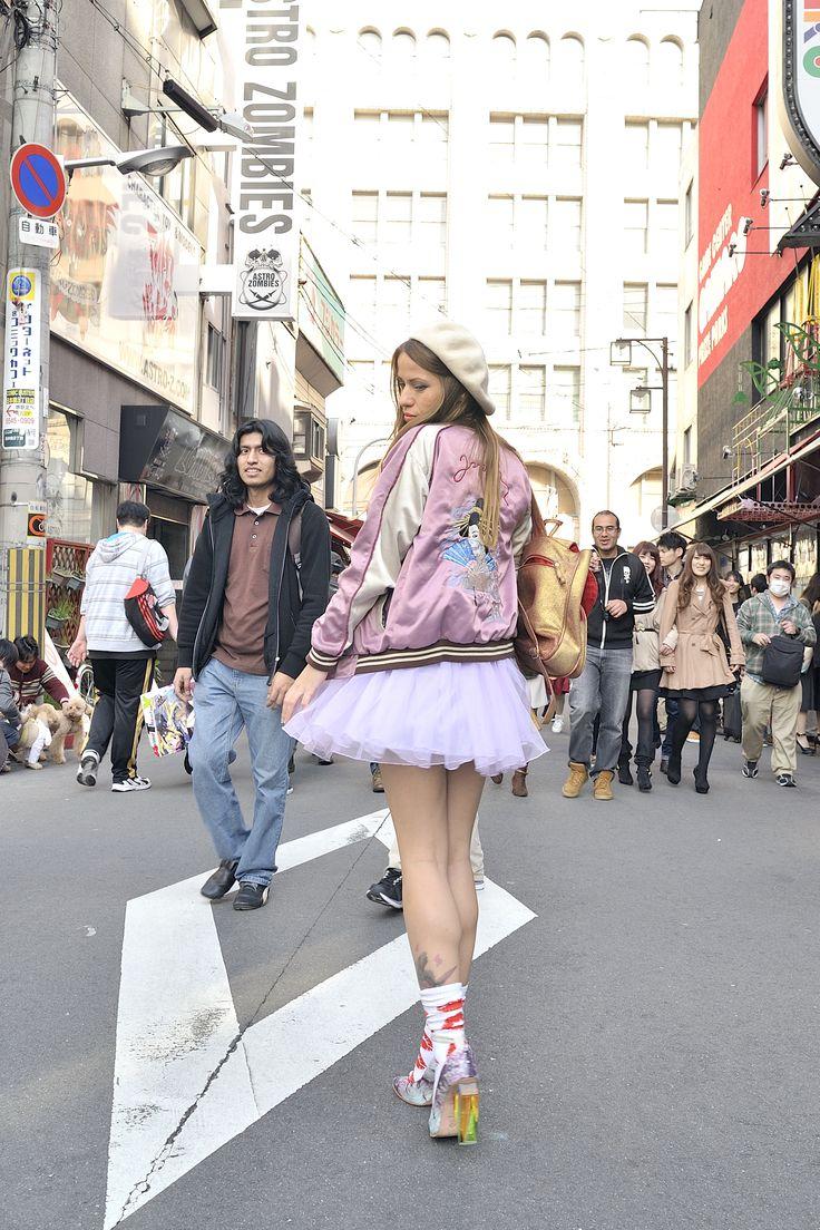 sukajan, Japanese jacket , osaka, colorful streetsnap
