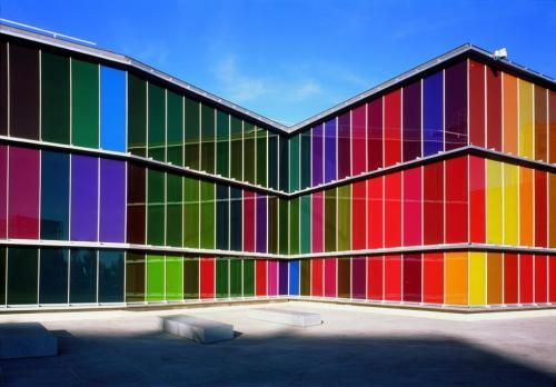 MUSAC, Museo de Arte Contemporáneo de Castilla y León,,,beautiful rainbow colors,,,
