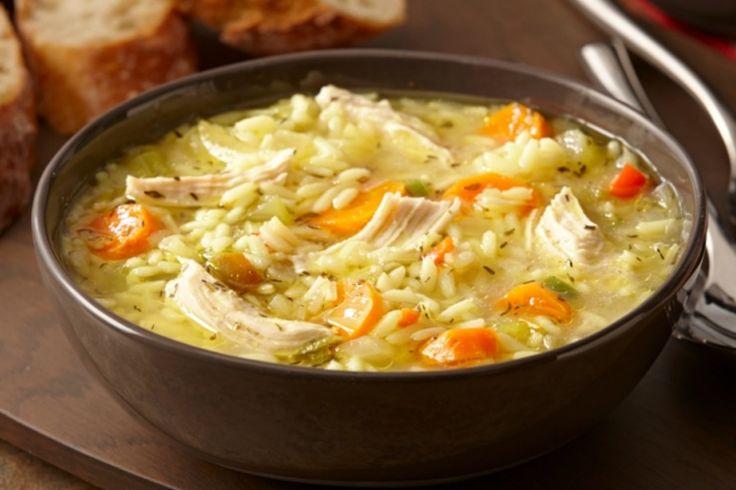 Soupe poulet et riz