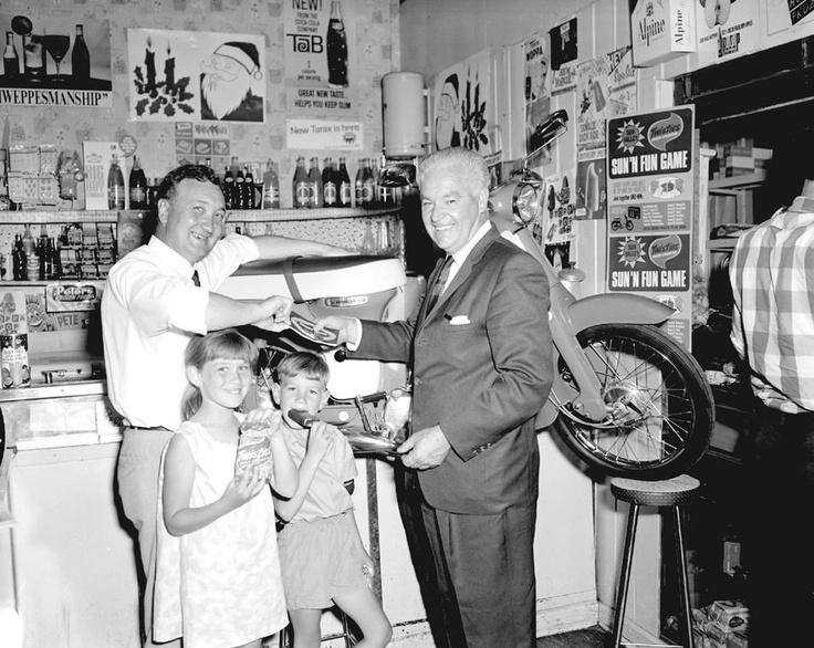 Negative - Interior of Milk Bar, Middle Brighton, 1968 - Museum Victoria