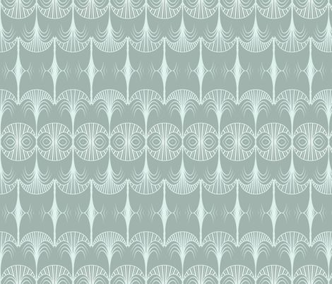art deco palm fabric by arrpdesign on Spoonflower - custom fabric