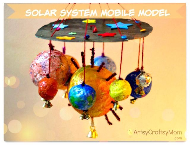 How to make a Solar System Mobile Model Solar system project mobile4 photo