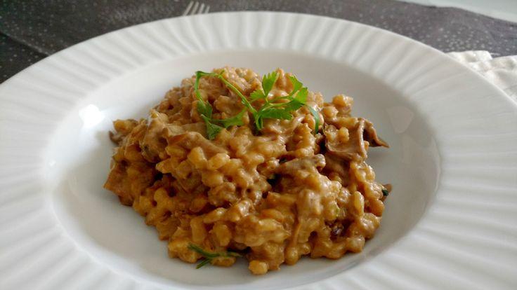 Don Zorruno: Risotto de cebada con setas y jengibre
