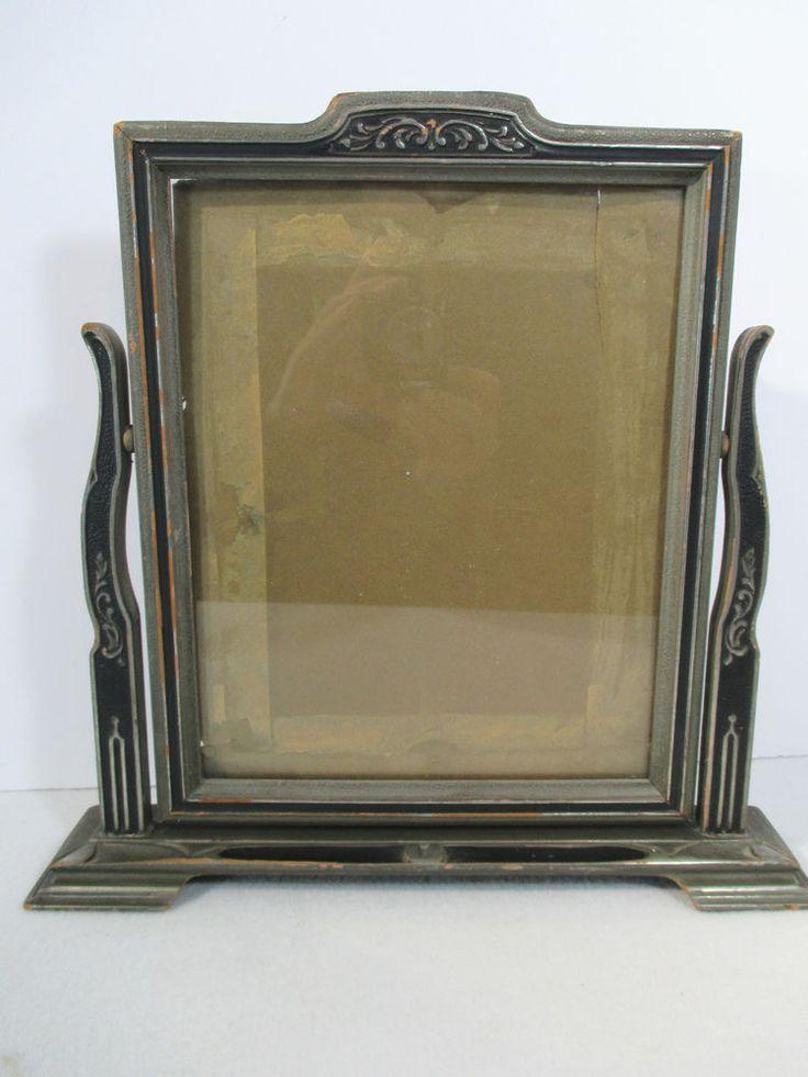 Details About Vintage Art Deco Swing Swivel Tilt Table Top