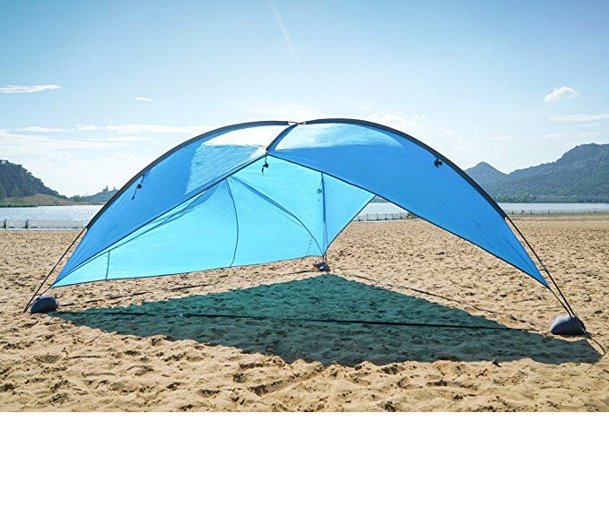 Oileus Super Canopy Tent With Sand Bags Easy Up Beach Sun Shelter And Lightweight Shade Tarp For Camping Family Picnic Waterproof
