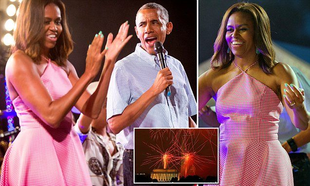 The Obamas lead Independence Day celebrations with Bruno Mars concert