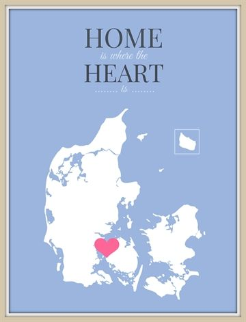 Home is where the heart is - blå(50X70)