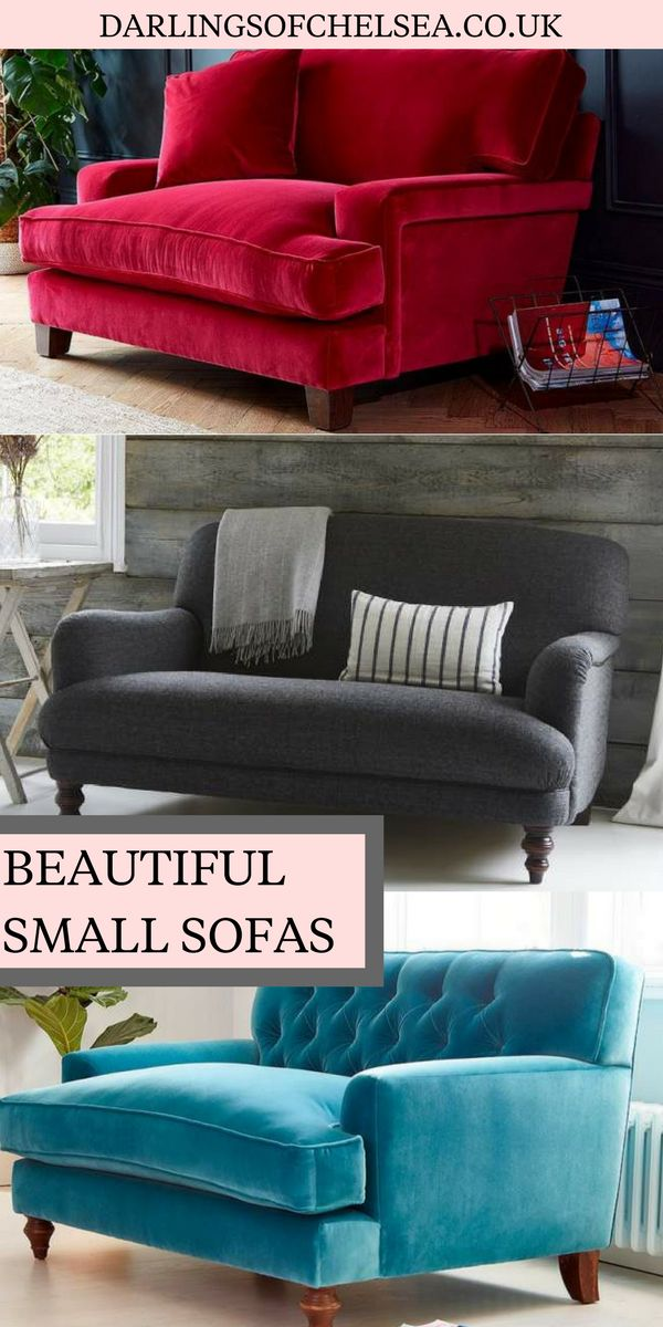 If space is tight and you're looking for a small sofa then look no further.  We adore these statement style compact sofas which fit into the smallest of  ...