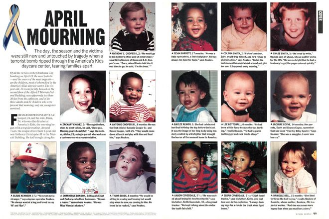 Baby Bailey Oklahoma City Bombing | ... Biggest Stories - 1995: OKLAHOMA BOMBING - Anniversary : People.com