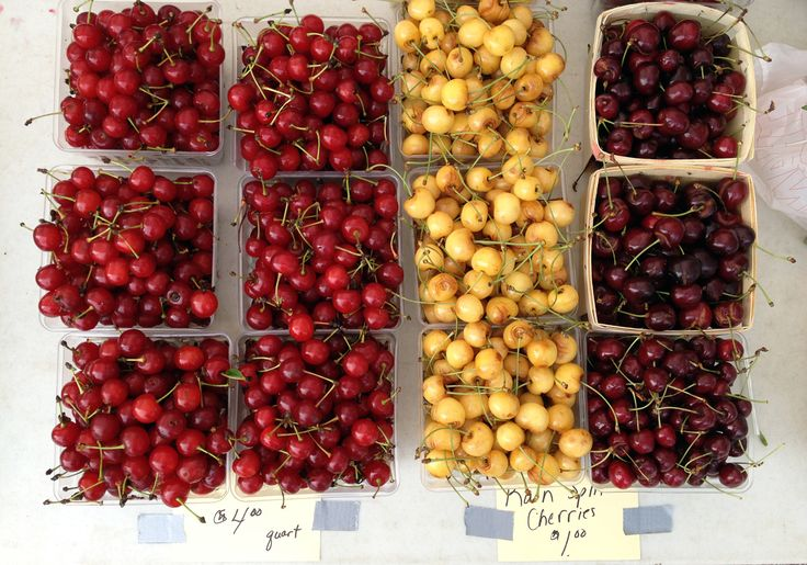 Farmers' Markets Across America: Michigan City, Indiana: Gardenista: Foodies Foodies, Summer Colour, Food Inspiration, Cities Indiana, Farmers Marketing, Indiana Farmers, Lakes Michigan, Marketing Cherries, Michigan Cities