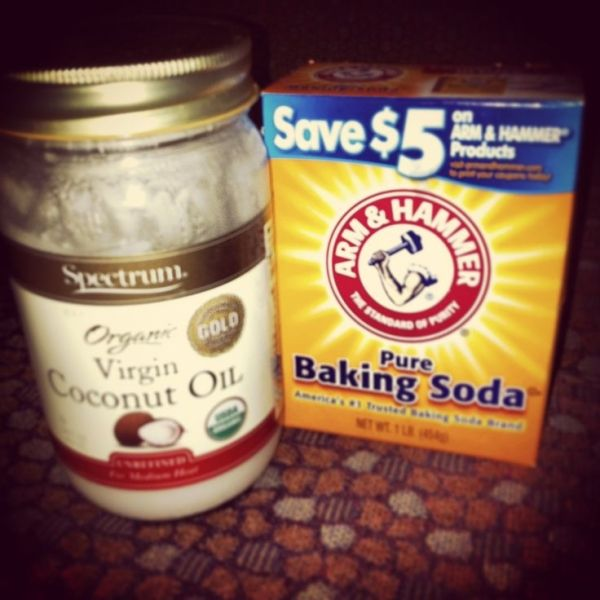 If you want the softest, clearest skin, use these together! 2tbsp baking soda, 1/2 tsp coconut oil and enough water to make a paste is enough for your neck and face. Scrub for 3 min then rinse with cold water! Immediately saw a difference. Smaller pores and glowing skin! And the coconut oil moisturizes your skin for you! by hhagit
