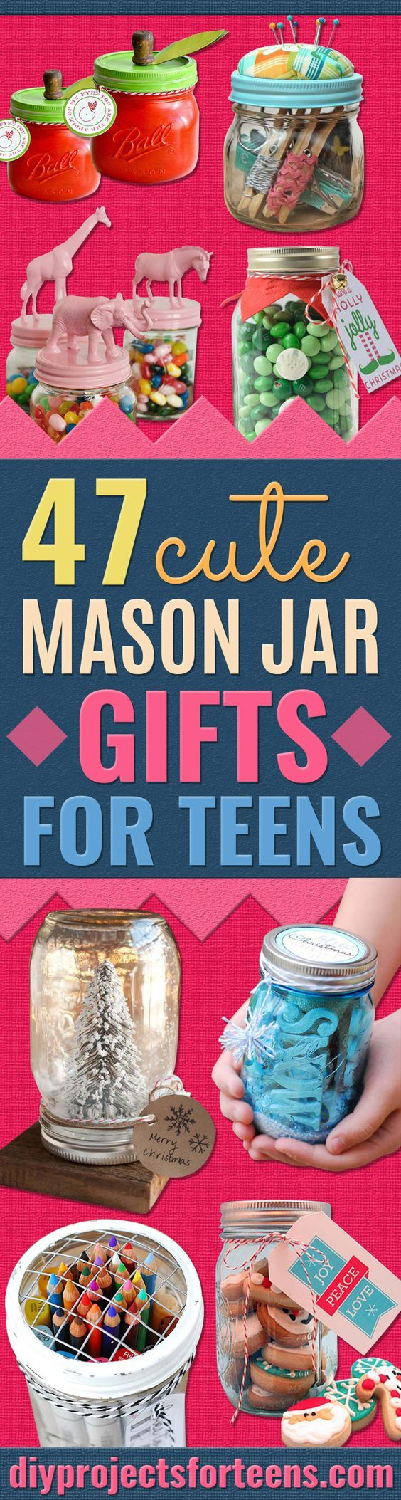 Cute DIY Mason Jar Gift Ideas for Teens - Best Christmas Presents, Birthday Gifts and Cool Room Decor Ideas for Girls and Boy Teenagers - Fun Crafts and DIY Projects for Snow Globes, Dollar Store Crafts and Valentines for Kids