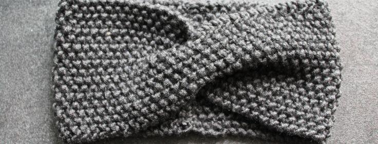 Stirnband mit Twist stricken – Alles mit Herz
