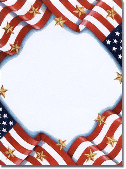 Free Patriotic Page Borders Memorial Day Invitations