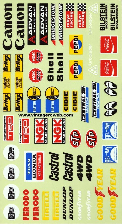 Hirobo Rockin City Model Trains Decal Sheets Slot Cars