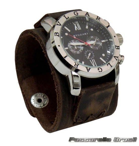1174fc51219 Relógios Bracelete Em Couro Masculino