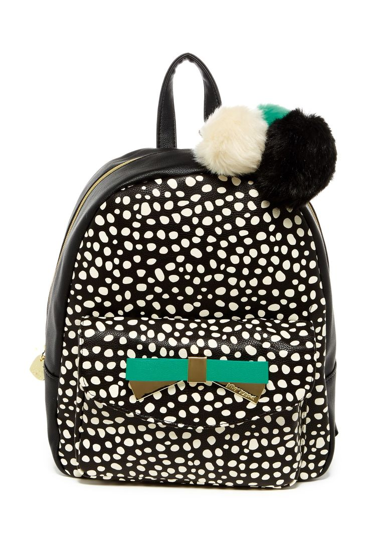 Front Pocket Faux Leather Backpack by Betsey Johnson on @nordstrom_rack