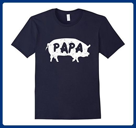 Mens Papa Pig T-Shirt Funny Pig Shirt for Dad Gift for Fathers Medium Navy - Animal shirts (*Amazon Partner-Link)