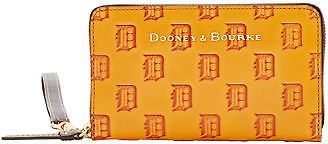 Dooney & Bourke MLB Tigers Large Zip Around Phone Wristlet Wallet