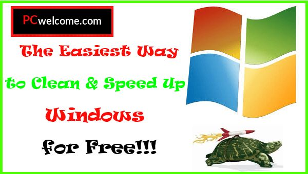 I will show you today a free tool that clean and speed up windows, so your pc may become as fast as before without formatting it.
