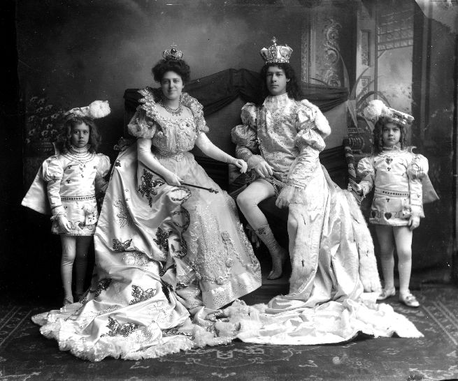 1907 king and queen of mardi gras in mobile, al-- the birthplace of mardi gras