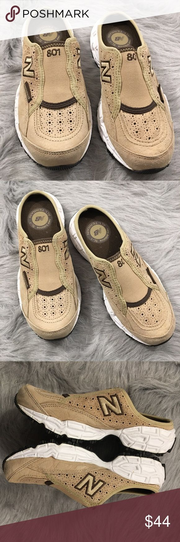 New Balance Tan Suede Slip On All Terrain Shoes Brand new, never worn New Balance slip on sneakers. Please see pics for more details (: New Balance Shoes