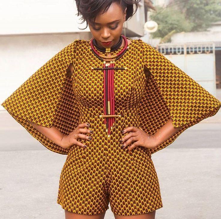 Combinaison originale de Nana Wax  #AfricanFashion #Combinaison …
