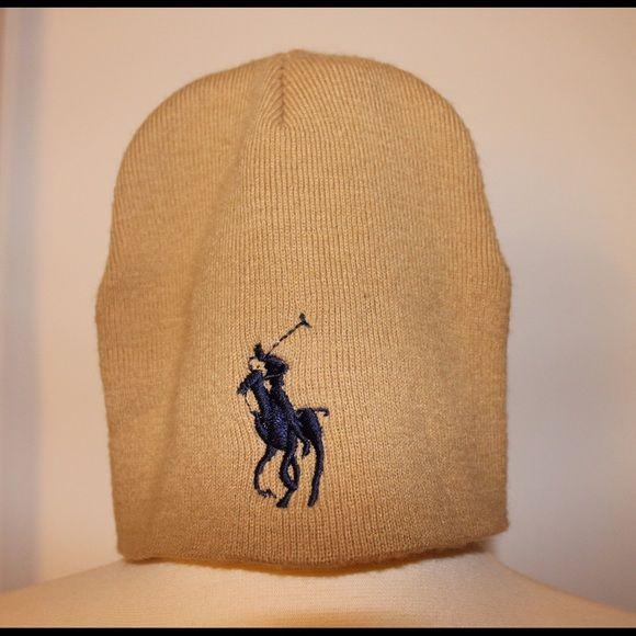 Polo beanie Tan and navy polo beanie Polo by Ralph Lauren Accessories Hats