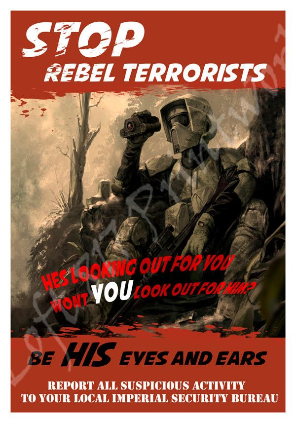 Star Wars inspired Propaganda art, Scout trooper art, Rebel propaganda poster