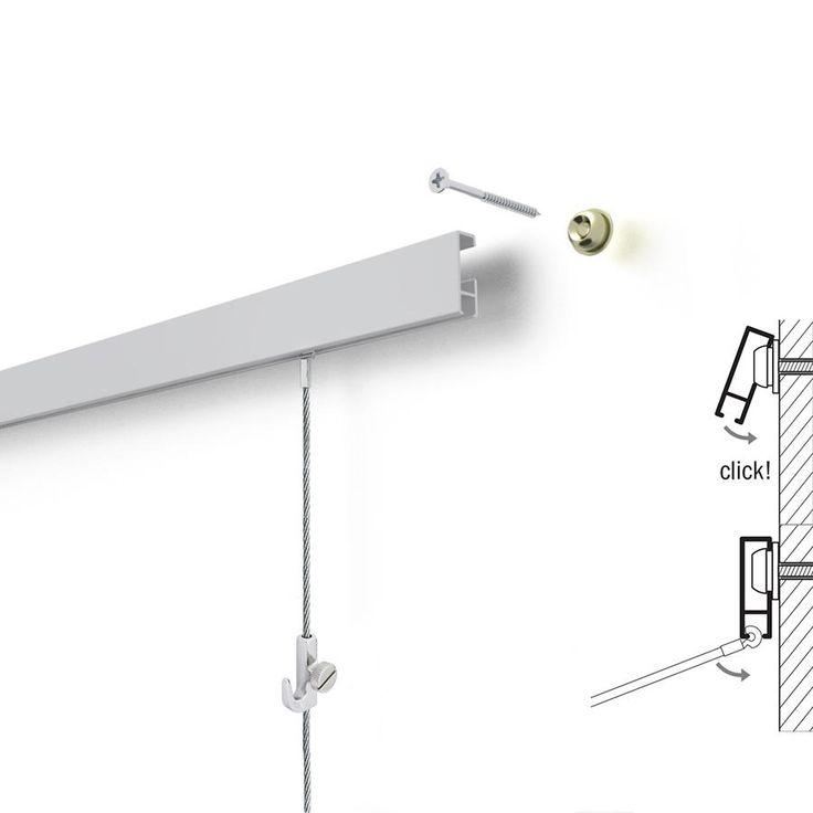 двух- система на леске для подвески фотографий голубые