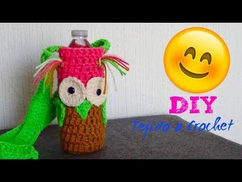 Buho porta Botella tejido crochet!! Tutorial Rapido - YouTube