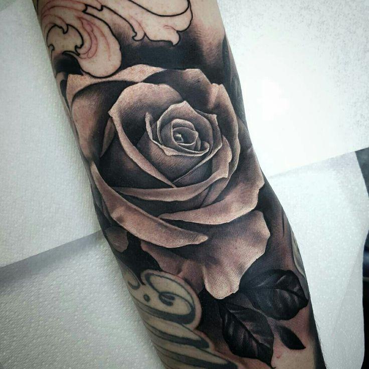 Tattoo done by: Nick Imms #rosetattoo
