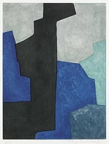 Serge Poliakoff, Composition noire, bleue et mauve