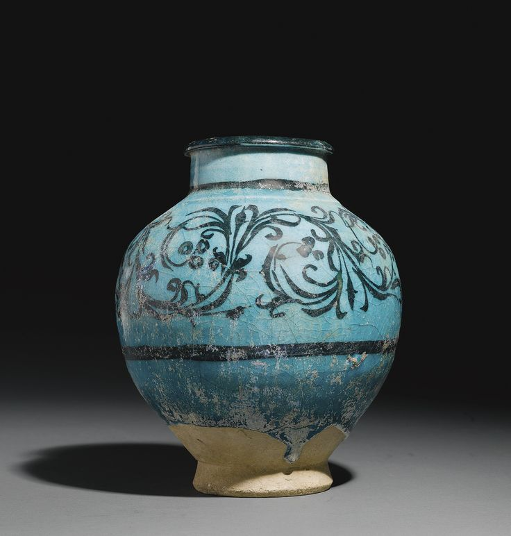 A Kashan baluster jar with 'waterweed' motifs, Persia, 13th century,