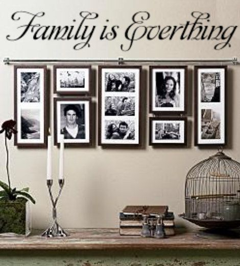 Family is Everything decal is perfect. I also love the frame used.