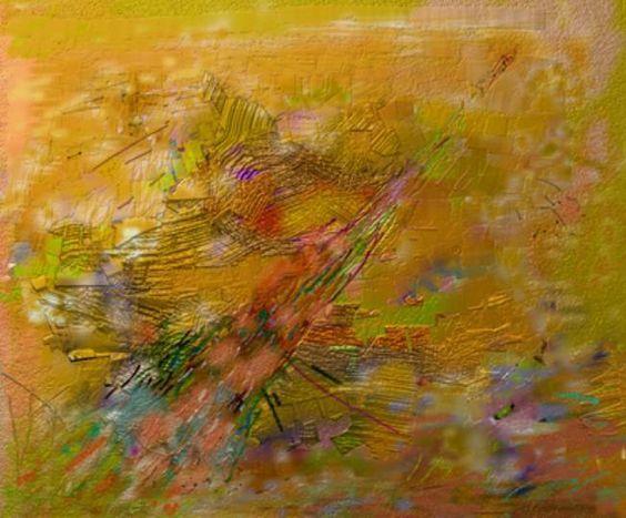 "Victor Shmokhin. ""Взмывание ракеты "" Бумага /компьютерное искусство. 28 ,8 х 34,5. 2011г. (№3,763)."
