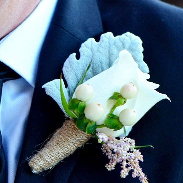 Special buttonhole for a special bridesman by @thedoctorsflowers. Photo by Emulsion Photography.