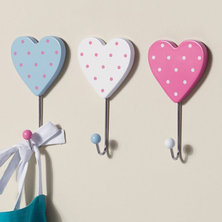 Heart Coat Hooks - Coat Hooks - Bedding & Room Accessories ...
